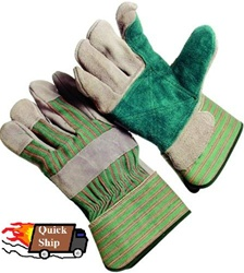 Seattle Glove -Double Leather Green Palm