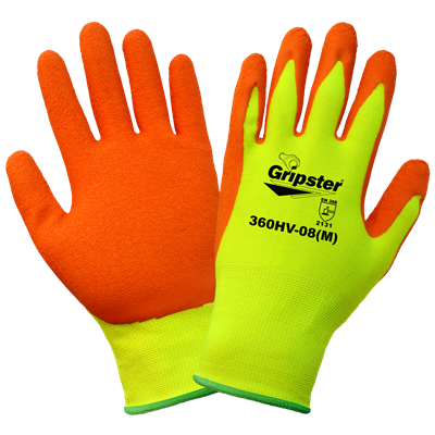 Global - Gripster - High-Visibility Rubber-Dipped Glove