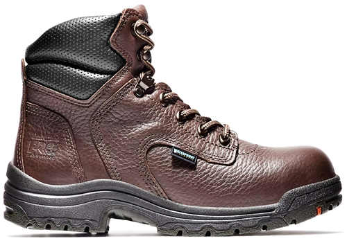 Timberland PRO® Women's TiTAN® WP 6-Inch Safety Toe Color: Dark Brown