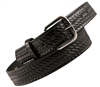 Boston Leather - Black Leather Belt Basket weave