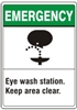 EYE WASH STATION...Emergency Sign 10x14