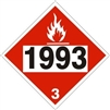 DOT FLAME PICTO 1993... DOT Placards 10 3/4in