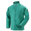 Black Stallion 200 FR Cotton Welding Jacket, Green