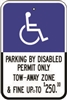 PARKING BY DISABLED PERMIT... Notice Sign 12x18