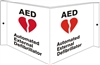 AED RED HEART... 3D Acrylic Sign 6x12