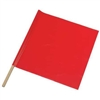 "Vinyl Warning Flag 24"" x 24"" - RED"