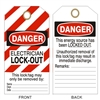 ELECTRICIAN LOCK-OUT Tagboard Danger Tag 6x3 25 Pack