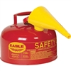 Eagle - Type I Diesel Safety Can With Funnel, 2 Gal Red
