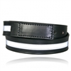 "Boston Leather -1-1/2"" No Scratch Reflective Leather Belt"