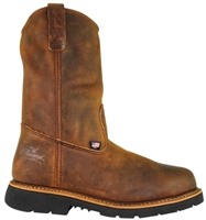 "Thorogood - Mens 11"" Crazyhorse Steel Toe Pull-on Wellington"