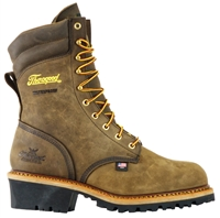 "Thorogood - Mens 9"" Logger Brown Crazyhorse WP EH Steel Toe"