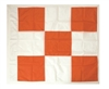 "Safety Flag 36 by 36"" Airport Flag, Orange & White"
