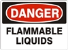 FLAMMABLE LIQUIDS Danger Sign 10x14