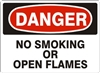 NO SMOKING... Danger Sign 10x14