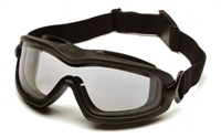 Pyramex - V2G-PLUS Clear H2X Anti-Fog Dual Lens with Black Strap