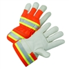West Chester High-Visibility Grain Cowhide Leather Palm Gloves