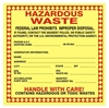 HAZARDOUS WASTE... Shipping Label 6x6 10 Pack