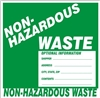 NON-HAZARDOUS WASTE Shipping Label 6x6 10 Pack