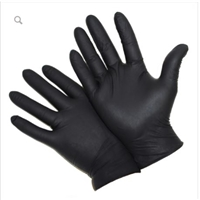 Black Nitrile Powder Free Industrial Gloves