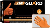 On Guard Powder Free Orange 6.5 Mil Nitrile Exam Gloves
