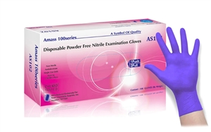 Purple Nitrile 4 Mil Powder Free Exam Gloves