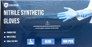 Nitrile Synthetic Blue 3 Mil Powder Free Gloves