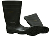 Rubber Boots with Steel Toe - Black