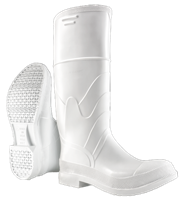 PVC Boots with Steel Toe - White