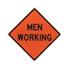 "Bone Safety Mesh Roll-Up ""MEN WORKING"" Sign"