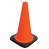 "JBC - Safety 18"" Orange PVC Traffic Cone With Black Base"