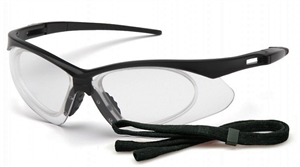 Pyramex - PMXTREME® Rx Safety Glasses Clear with Rx Insert Lens Black Frame