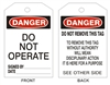 DO NOT OPERATE Danger Tag 6x3 25 Pack