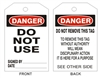 DO NOT USE Tagboard Danger Tag 6x3 25 Pack