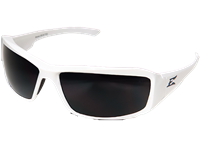 Edge -  Brazeau Designer Series White Frame Polarized Smoke Lens
