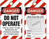 DO NOT OPERATE... Vinyl Danger Tag 6x3 10 Pack